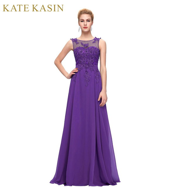 Purple Prom Dress Plus Size Chiffon Cap Sleeve Prom Dresses