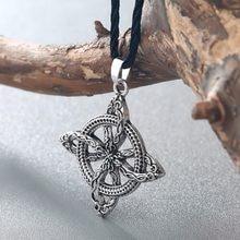 Chengxun homem viking superação grama eslava amuleto samambaia flor pingente colar amor nó amuleto jóias proteger contra a doença