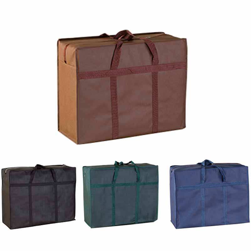 L Size Large Capacity Moving Travel Bag Moving Luggage Packing Bag Folding Waterproof Non-Woven Bag Quilt Tote Handbag