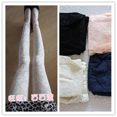 Plus size female spring and summer thin lace legging lace ankle length trousers quality