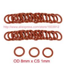 лучшая цена OD 8mm x CS 1mm silicon seal rubber o ring o-ring oring