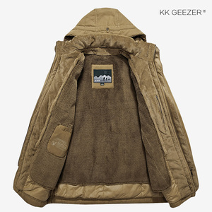Image 4 - Winter Jacket Men Parkas Top Warm Waterproof Big Size Thicken Male Heavy Wool 2 in 1 Coat High Quality Fleece Cotton Padded