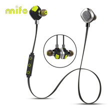 mifo wireless earphone headphone sport stereo bluetooth headset mic magnetic earbuds waterproof microphone for xiaomi iphone