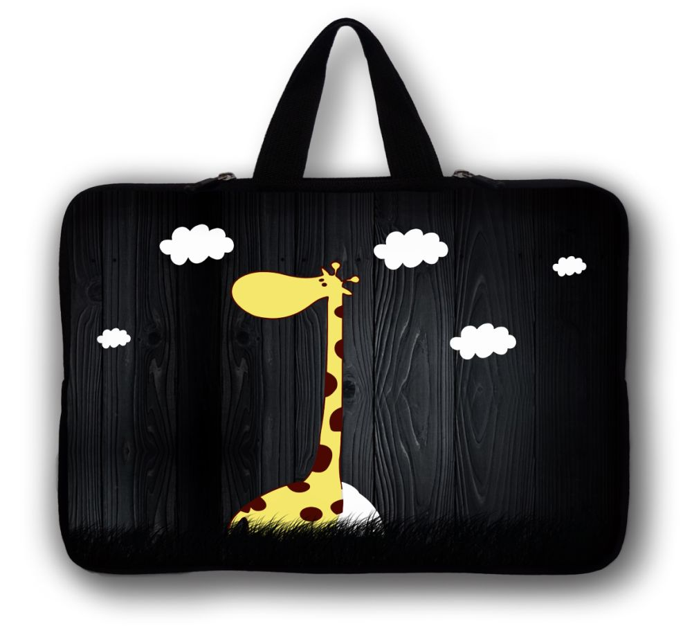 Giraffe 15 15.4 Soft Neoprene Laptop Netbook Sleeve Bag Case Handle 15.6 Computer Cover Pouch For HP DELL ACER ASUS Toshiba