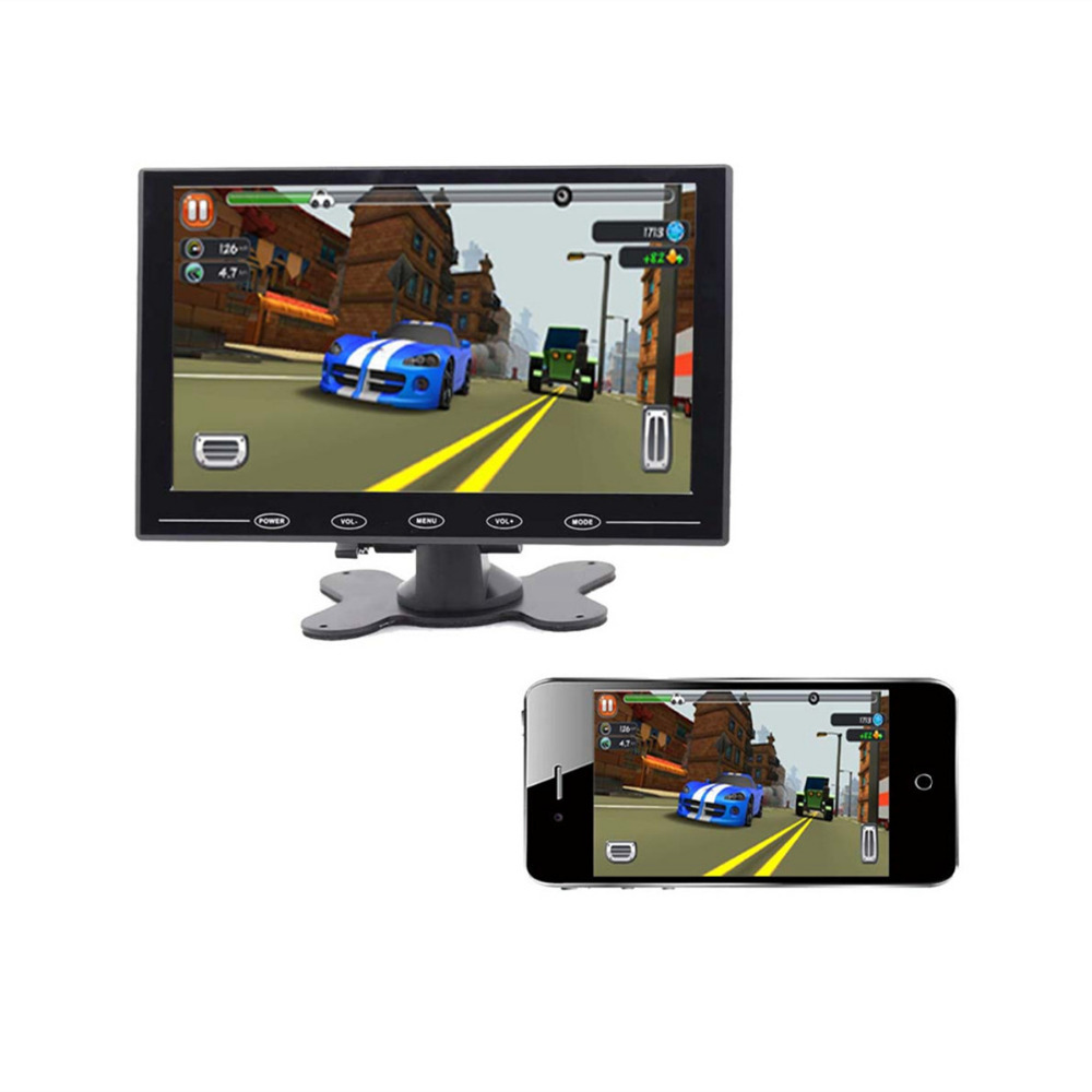 Wearson 7 inch LCD Cast Screen Monitor With AV VGA HDMI For Car and Smartphone морозильная камера bosch gid 14a50