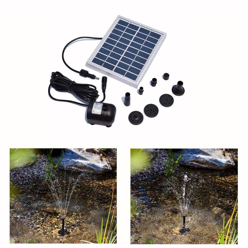 Small type solar pump landscape pool garden fountains 9v for Solar pond pump