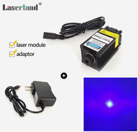 Stage Lighting Focusable 650mW 445nm Blue Laser Diode Module With Fan Apapter