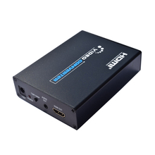 2018 New scart to HDMI Scaler Box CVBS YC RGB To HDMI Video Audio Upscale Convert AV Signal Adapter 720P/1080P For TV DVD