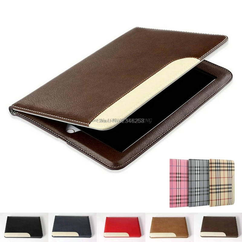 цена на Premium PU Leather Case for iPad 2 3 4 360 Full Protection Smart Stand Auto Sleep & Wake up Folio Flip Cover with Card Slots