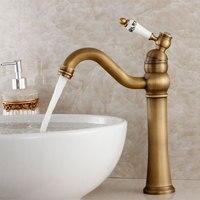 2015 Sale Tap Kitchen Faucet Torneira Fashion Antique Copper Table Basin Hot And Cold Faucet Porcelain Vintage Wash Single Hole