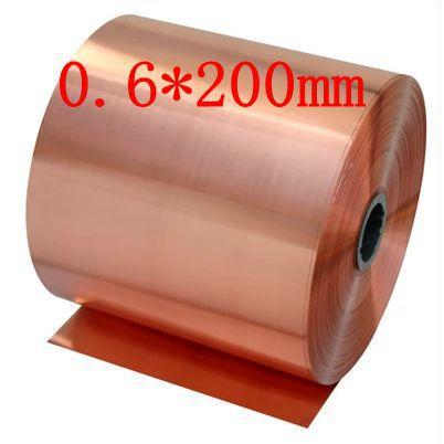 0,6*200 мм Высокое качество Медь полосы, лист кожи Красная Медь, фиолетовый Медь фольги, Медь пластины
