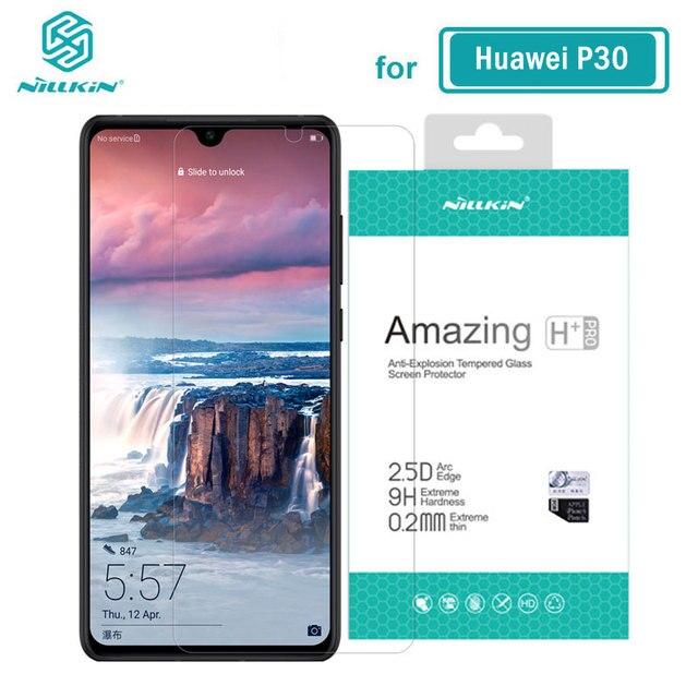 Huawei P30 cam Nillkin İnanılmaz H + Pro 0.2MM ekran koruyucu temperli cam için Huawei P30