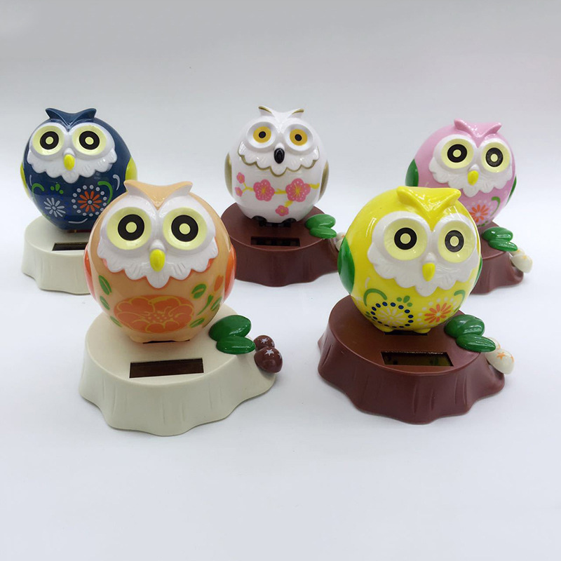 Car accessories, solar energy shake heads, owls, auto parts, front windshield operation platform, creative doll accessories, hol