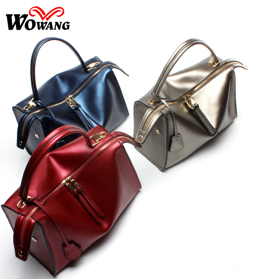 ФОТО New Genuine Leather bag Women Leather Handbag Women bag Designer Shoulder Crossbody Bag Natural Cowhide Tote Women Messenger Bag