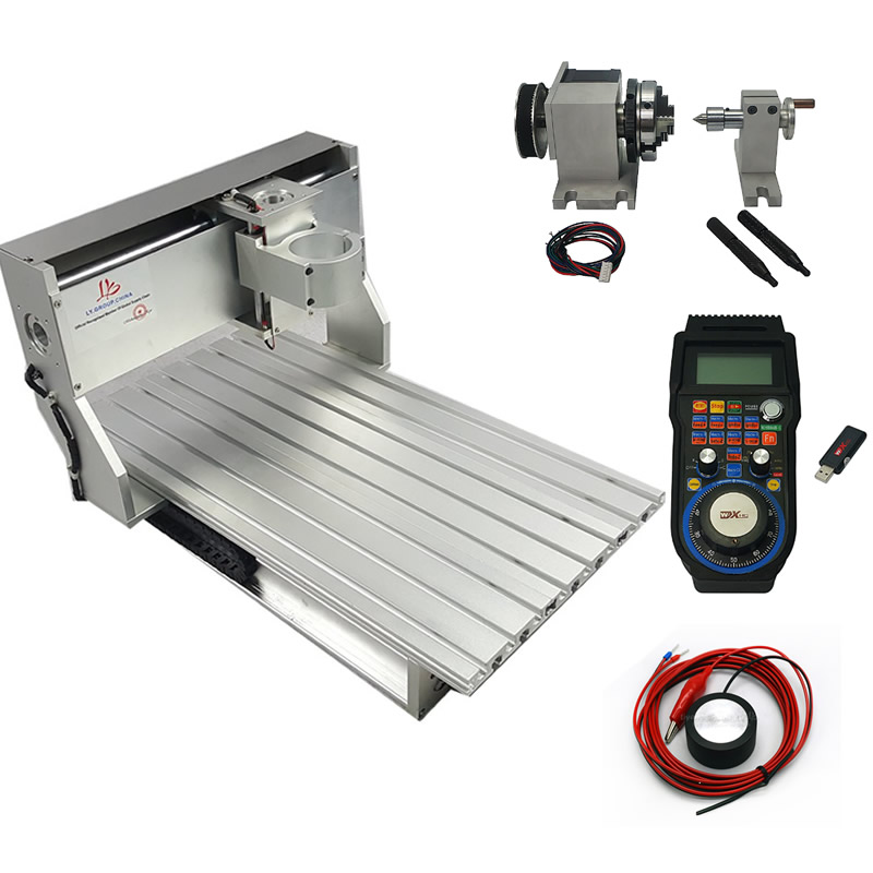 DIY cnc engraving machine frame 3040 ball screw wood carving milling router 4030 with handwheel WHB04B-6 axisDIY cnc engraving machine frame 3040 ball screw wood carving milling router 4030 with handwheel WHB04B-6 axis