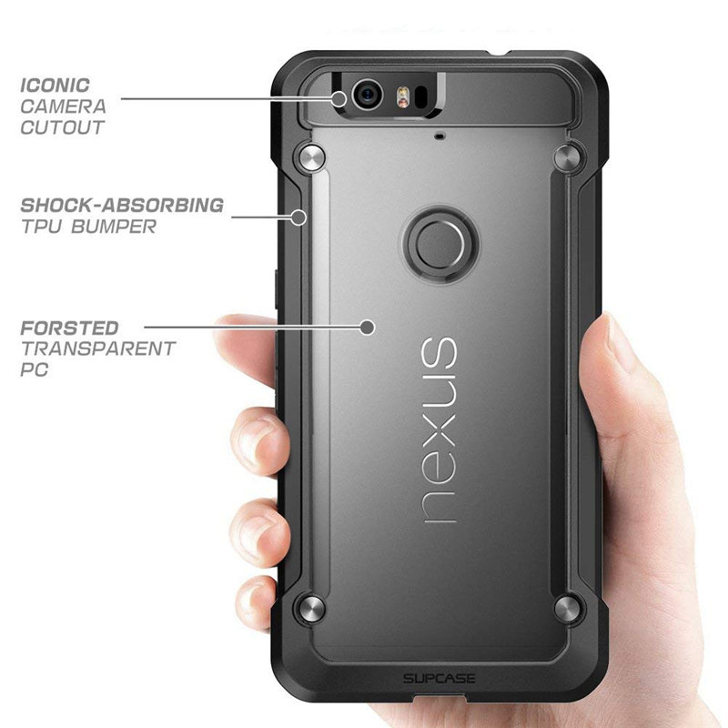 Image 2 - For Google Nexus 6P Case 5.7 inch (2015 Release) SUPCASE UB Series Premium Hybrid TPU Bumper + PC Back Case Protective Cover-in Fitted Cases from Cellphones & Telecommunications
