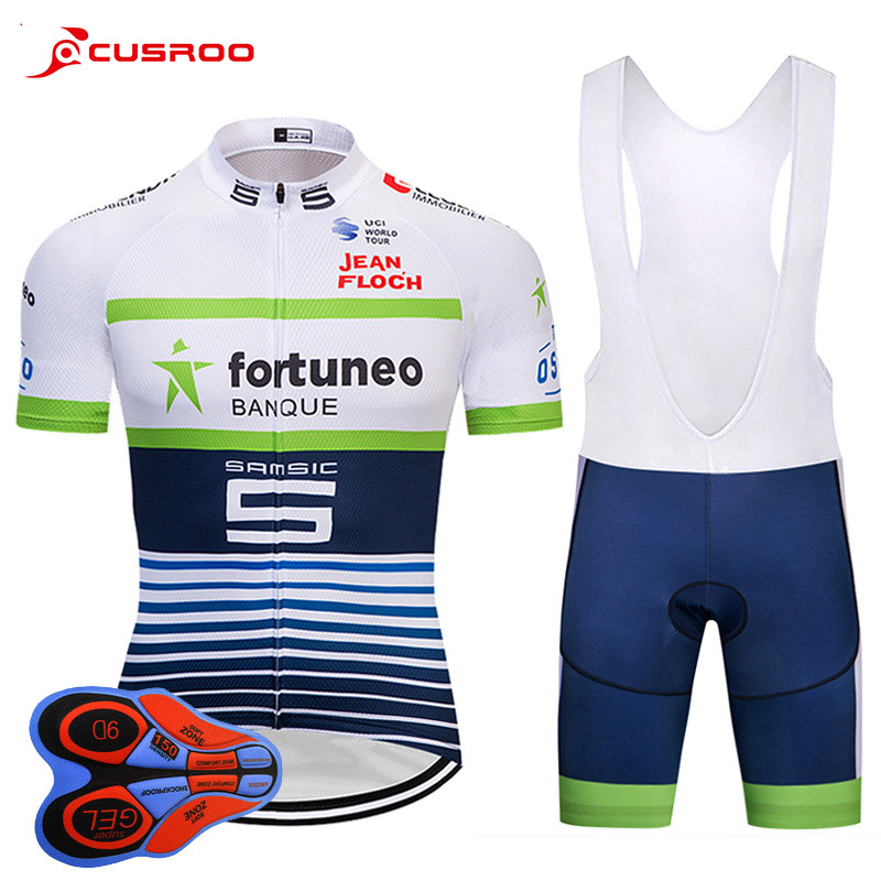 2018 white PRO TEAM Cycling jersey BICYCLING Maillot Culotte 9D gel Pad bike shorts set Ropa Ciclismo mens summer quick-dry