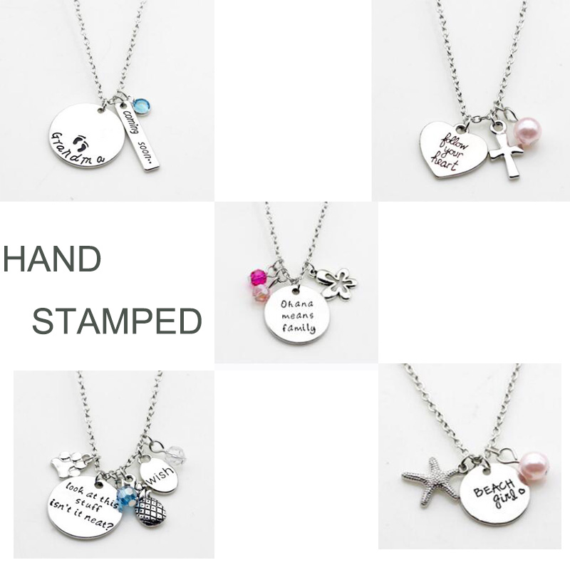Simsimi Gem Shape & Birth Stones Charm Choker For Women Female Jewelry Stainless Steel Origin Fashion Necklaces Gift Jewelry Jewellery & Watches