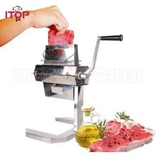 ITOP Manual 7 Meat Tenderizer Machine Beaf Pork Steak Cuber Pounders Stainless Steel Kitchen Terderizer Tools