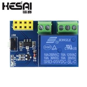 Image 4 - ESP8266 ESP 01S 5V WiFi ממסר מודול דברים בית חכם שלט רחוק מתג טלפון APP ESP01 ESP 01 אלחוטי WIFI מודול