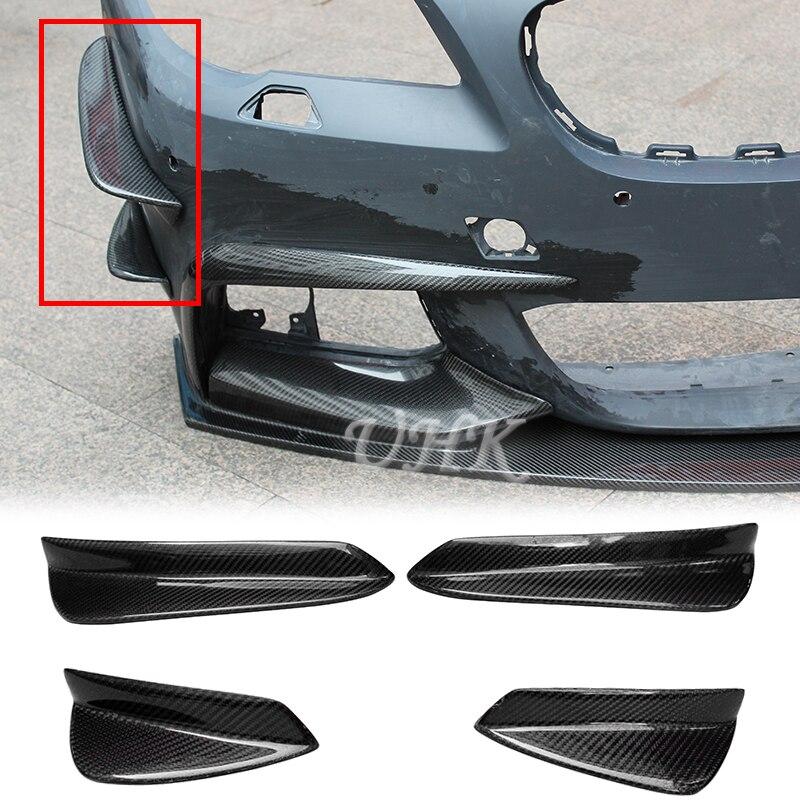 UHK 4 pcs Pour BMW 5 Série F10 F18 M-Tech En Fiber De Carbone Splitter Side Fender Décoration Car Styling auto Accessoires
