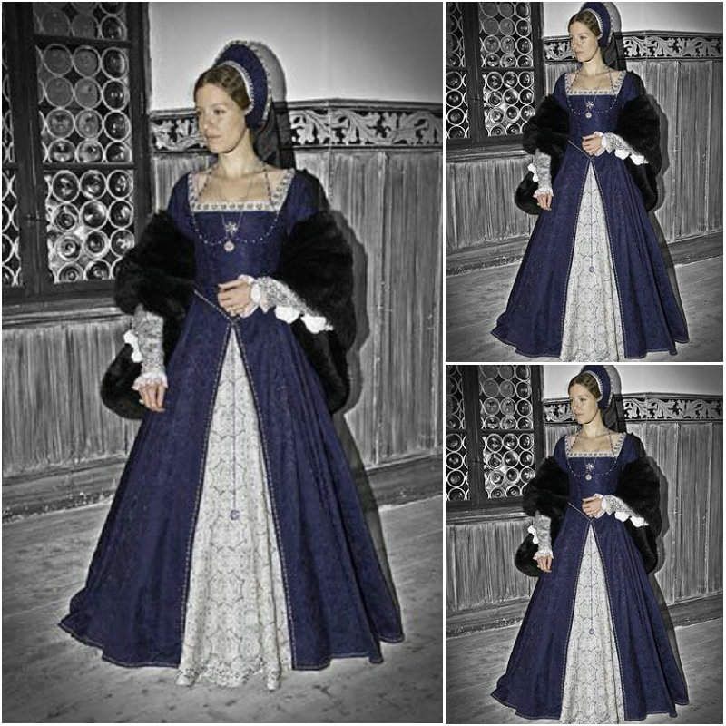 Historia! Klädgjorda Luxs Vintage Kostymer Renässans Klänningar - Maskeradkläder och utklädnad