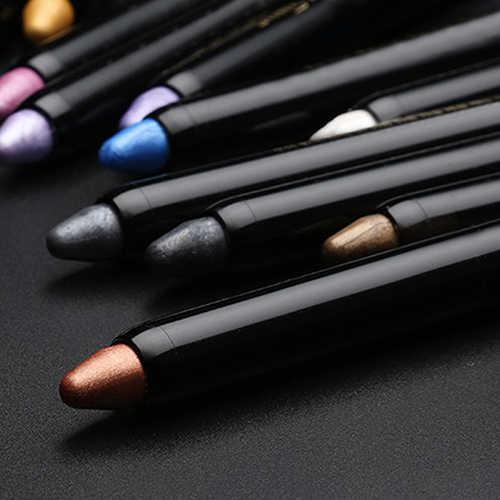 Terbaru 1 PC Kecantikan Highlighter Eyeshadow Pensil Kosmetik Glitter Light Eyeliner Shadow Pena Fashion Wanita Makeup Kecantikan Alat