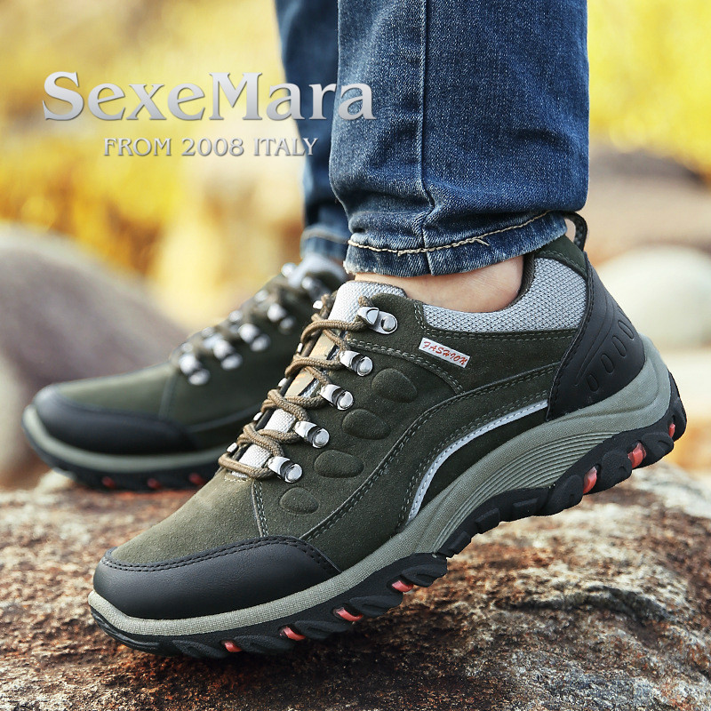 Man Waterproof Breathable Hiking Shoes Outdoor Trekking Sport Sneakers Men Tourism Shoes Climbing mountain masculino adulto