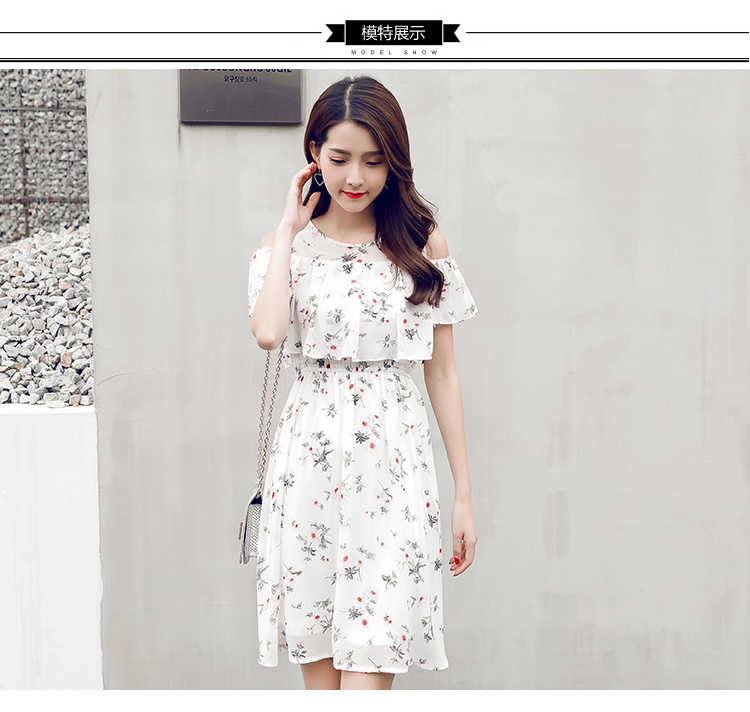 9f9c2bd0 ... 2018 summer clothes for kids girl floral chiffon dresses teenage 15 17  years white adolescent children
