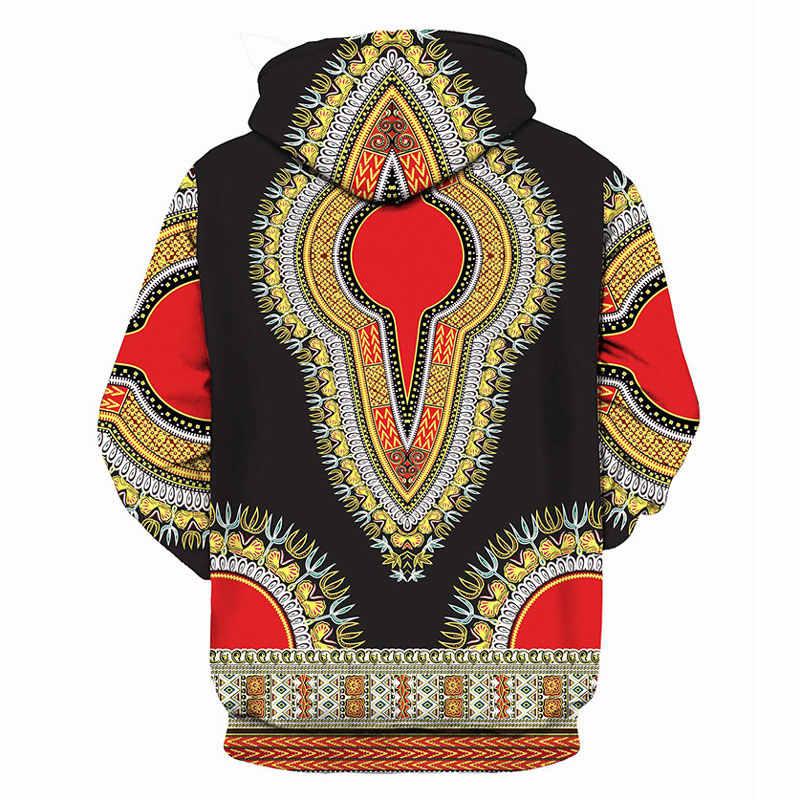 3D Dashiki печати толстовки Для мужчин Для женщин 2018 модные африканские традиционные с капюшоном спортивный костюм мужской Harajuku Хип-Хоп тренировочные Homme