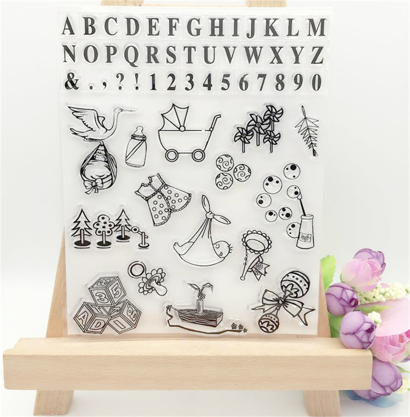 all kinds of baby living goodschristmas design clear transparent stamp for DIY scrapbooking paper craft photo album LL-184 letter phrase design scrapbook diy photo album paper cards silicone clear stamp transparent stamp for christmas gift tm 006