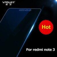 Vpower para Xiaomi redmi note 3 protetor de tela de vidro anti blue light para redmi note 3 vidro film pacote de varejo