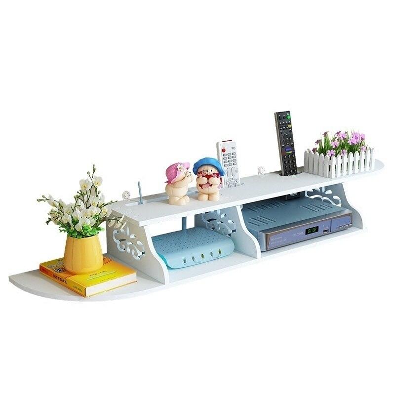 Abschirmung Wand Hängen Sammlung Drahtlose Wohnzimmer Router Regal Rack TV  Set Top Stacks Box Lagerung Buchse Abdeckung Schrank