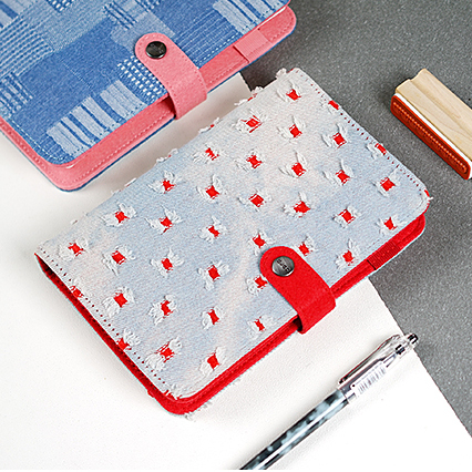 2019 Creative Korean Denim Cover Lindo Kawaii Escuela y Oficina Sketch Ring Binder Lechería Organizador Planificador semanal A5 A6 Notebook