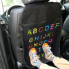 Car Seat Back Cover Automotive Seat Back Protection Organizer Anti Child Kick Pad Interior Accessories letters Style For Kids