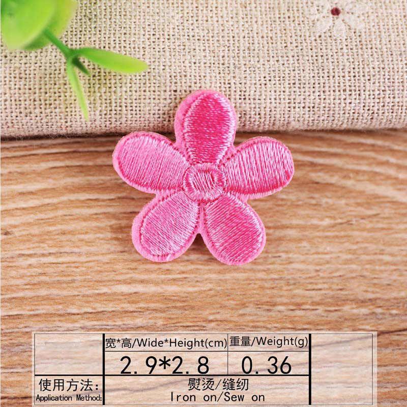 Autocollant de transfert thermique multicolore | Patch brodé de fleurs, patchs cousus, pour vêtements de bricolage, Appliques décoratives, 47207