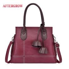 все цены на Luxury Tote Handbags Designer Leather Hand Bags Big Capacity Bolsa Women Shoulder Bags Female Crossbody Messenger Bag Sac a Main онлайн