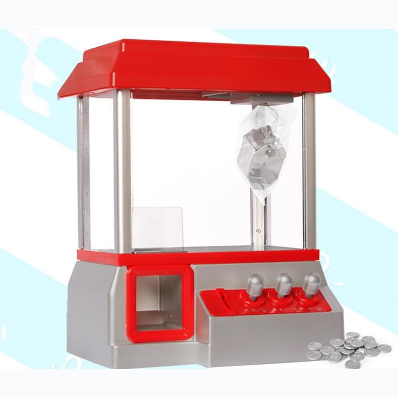 Alta calidad caramelo Grabber los niños fiesta de cumpleaños regalo favores de escritorio Mini muñecas moneda operado Grabber máquina de juego de Juguetes