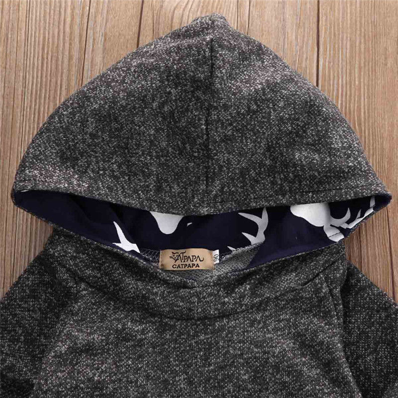 Kinderen Baby Boy kleding Set Hooded Top Sweatshirt + lange broek - Kinderkleding - Foto 4