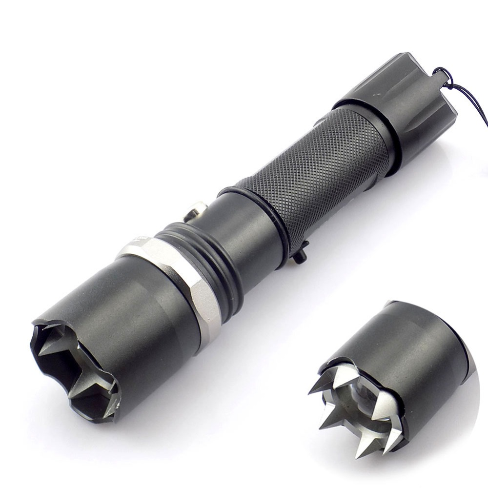 Zoomable Q5 Flashlight torchSelf-Defense Led Flash Light Outdoor Tactical Lamp Hunting Defensive 18650 AAA battery charger