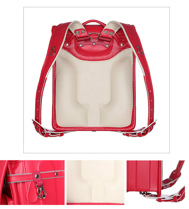Geniune Japanese Style Children School Bags For Girls Boys Kids Bookbags Randoseru Orthopedic Schoolbag Sac A Dos Mochilas 2017 in School Bags from Luggage Bags