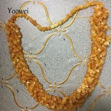 Yoowei 100 جرام العنبر قلادة للنساء غير النظامية الطبيعية العسل العنبر تويست قلادة فريدة فاخرة مجوهرات كول أمي هدايا المورد