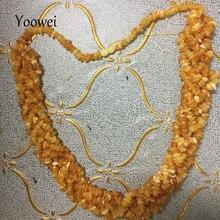 Yoowei 100g Amber Ketting voor Vrouwen Onregelmatige Natuurlijke Honing Amber Twist Ketting Unieke Luxe Sieraden Cool Moeder Geschenken Leverancier