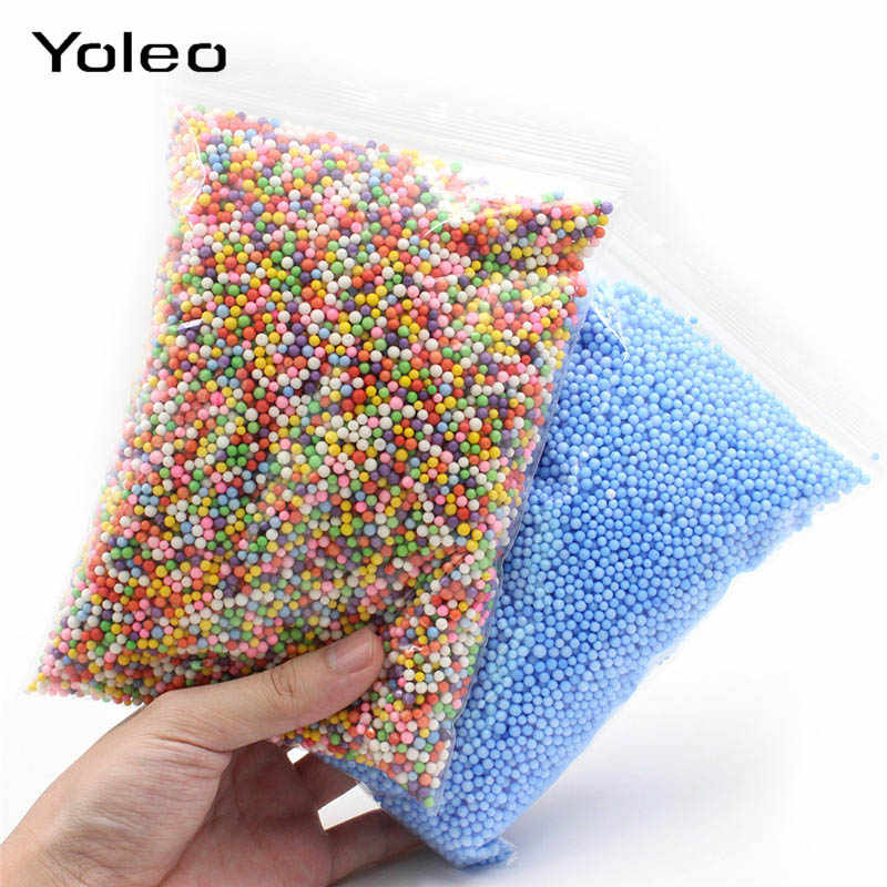 Colorful Foam Beads Slime Tiny Snow Balls Filler Addition for Snow Slime Mud Particles Accessories Foam Slime Balls Supplier
