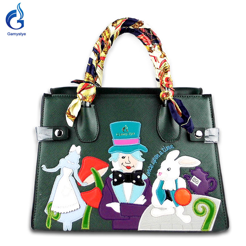 2018 new design Cartoon women handbags messenger bags hand women's shoulder bags design Embroidery totes female crossbody bag ipinee new arrival fashion female house design hand bags beach crossbody bag cartoon handbags for women
