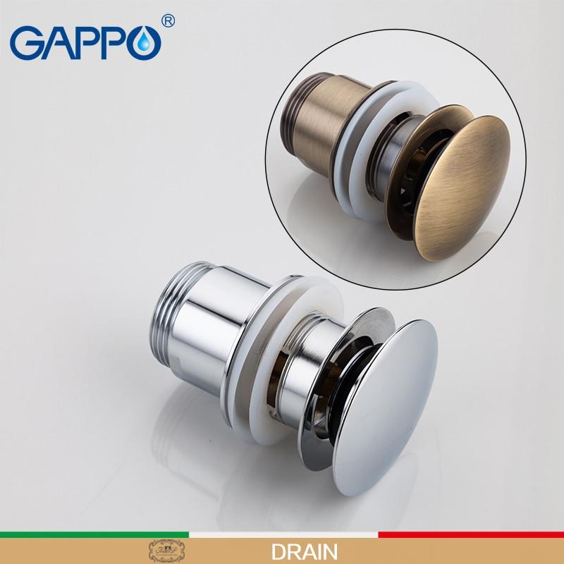 Gappo Drains Basin Sink Stopper Overflow Hole Waste Pop Up Waste Vanity Vessel Sink Drain Washer