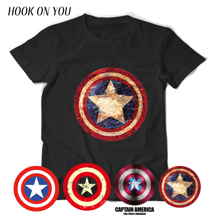 Agents of SHIELD America Captain Shield   T  -  Shirt   Cosplay Costume Men Summer Style Short Sleeve Print   T     Shirt   Cotton Plus Size