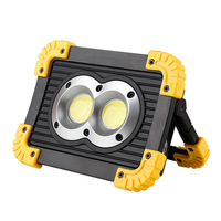 Led lamps outdoor work lights camping site led floodlights night searchlights COB chip lights square home lighting