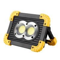 Işıklar ve Aydınlatma'ten Taşınabilir Spot Lambalar'de Led lambalar açık çalışma ışıkları kamp alanı için Led projektörler gece projektörler COB çip ışıkları kare ev aydınlatma