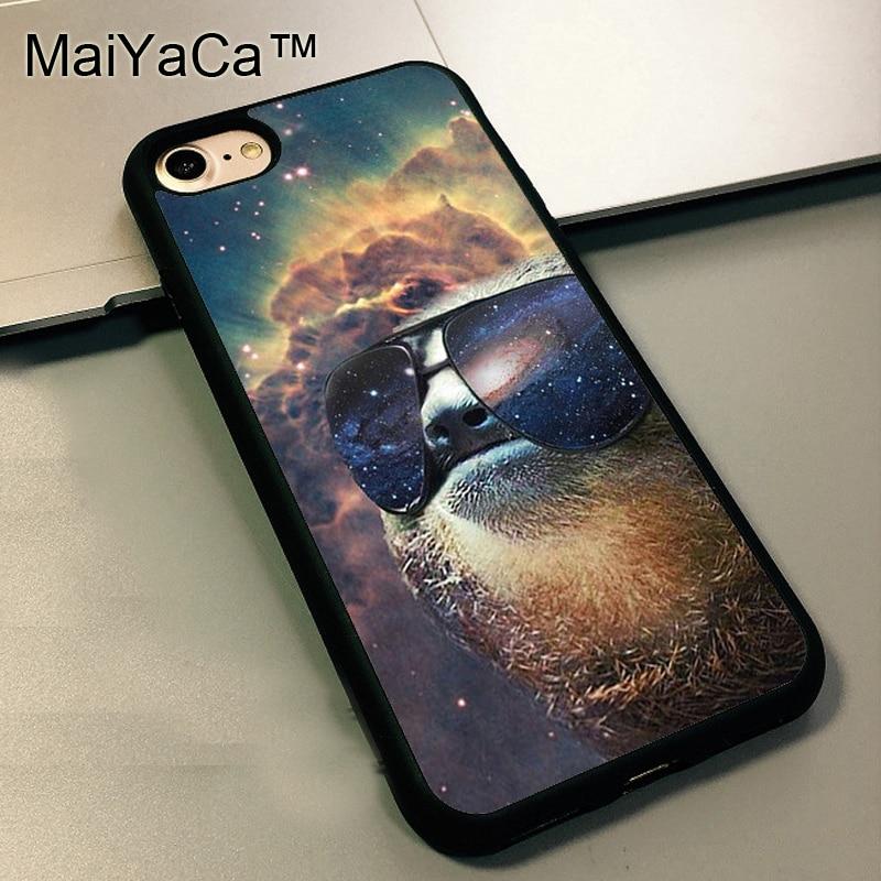 maiyaca sloth sunglasses funny soft case for apple iphone 5 tpu case